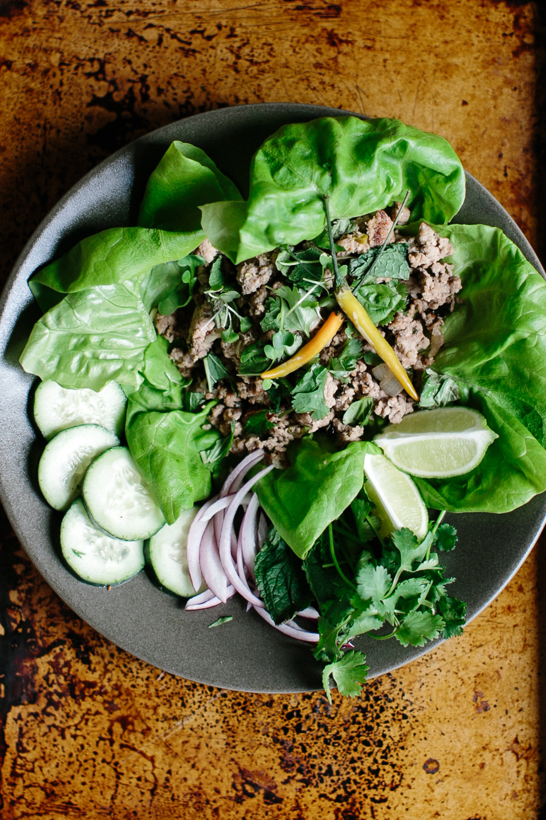 Whole30 Thai Larb (Spicy Pork Salad)