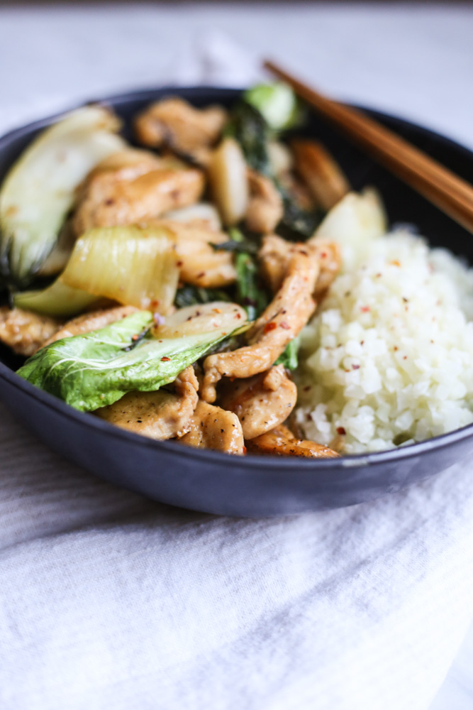 Stir-Fried Chicken and Baby Bok Choy