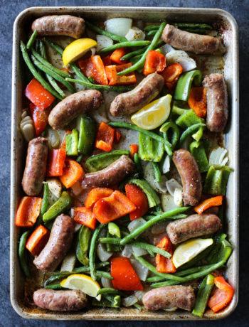 Sheet Pan Sausage with Veggies