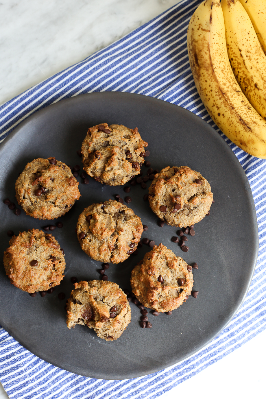 Paleo Protein Banana Muffins with Chocolate Chips