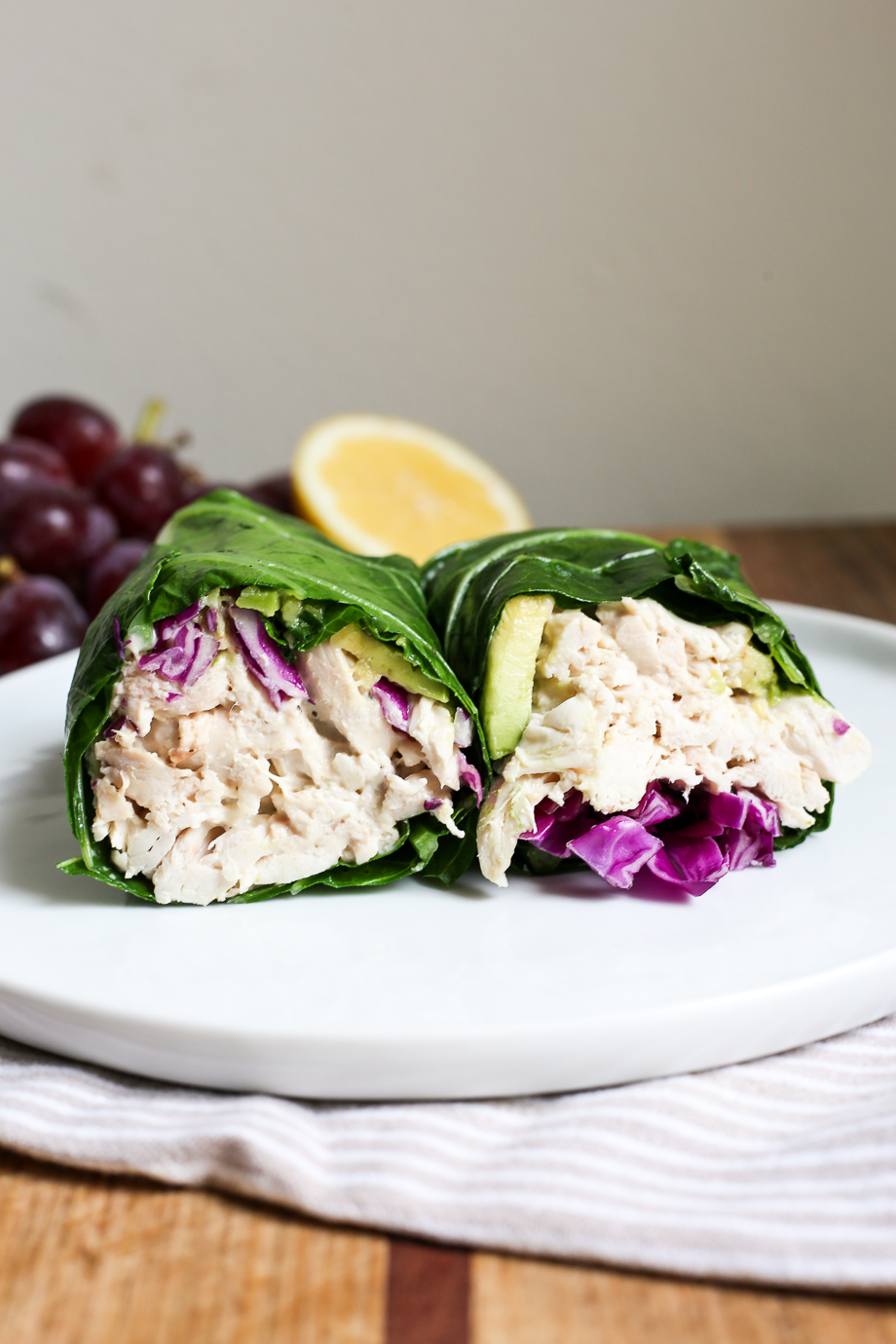 Caesar Chicken Collard Wraps