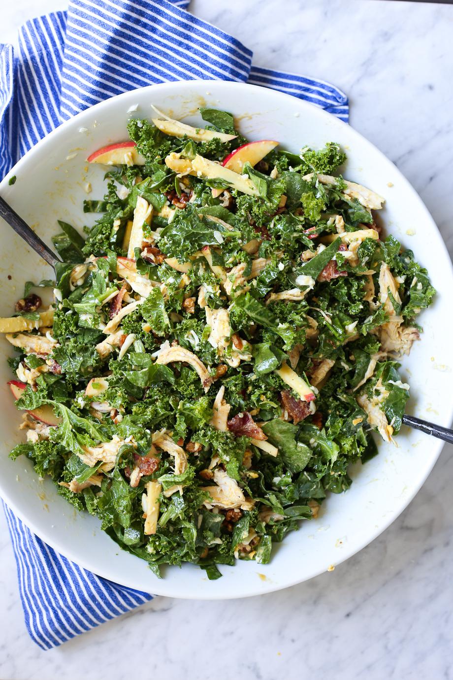 Kale + Chicken Waldorf Salad