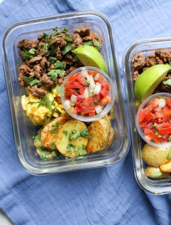 Meal Prep Breakfast Taco Bowls