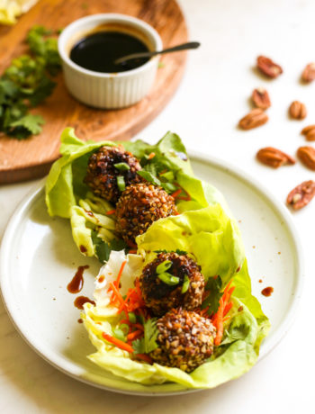 Pecan Crusted Asian Turkey Meatballs