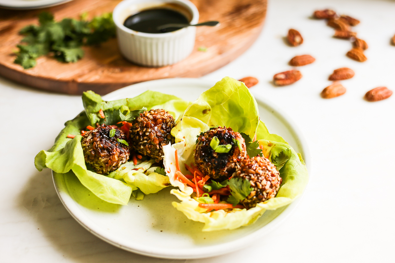 Pecan Crusted Asian Turkey Meatballs