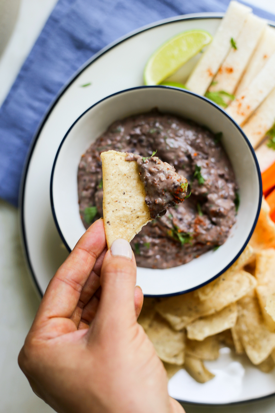 Chipotle-Lime Black Bean Dip