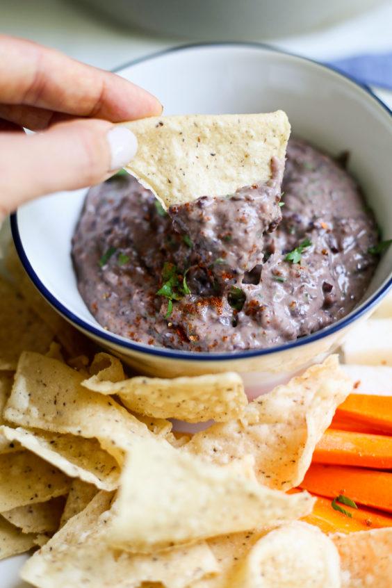chipotle-lime black bean dip