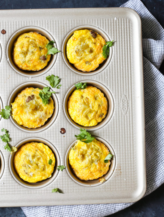 Green Chile Beef Egg Cups