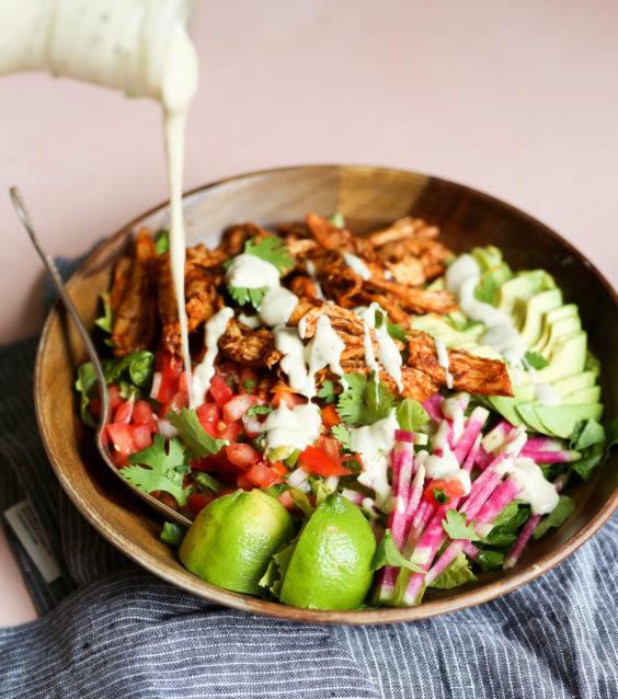 ultimate chicken taco salad