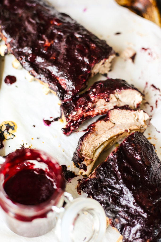 Instant Pot Blueberry Barbecue Ribs