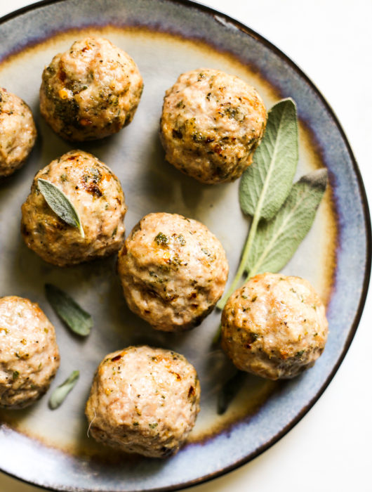 Pork and Sage Breakfast Meatballs