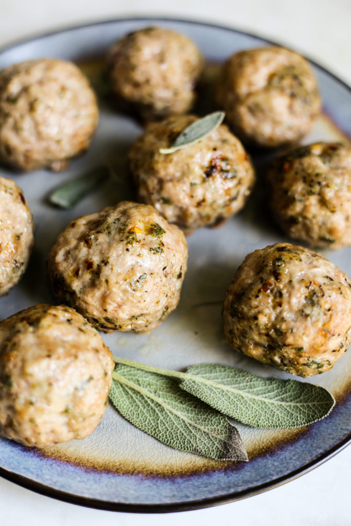 Pork and Sage Breakfast Meatballs