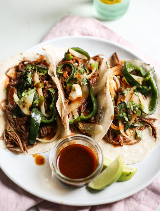 instant pot texas-style brisket tacos