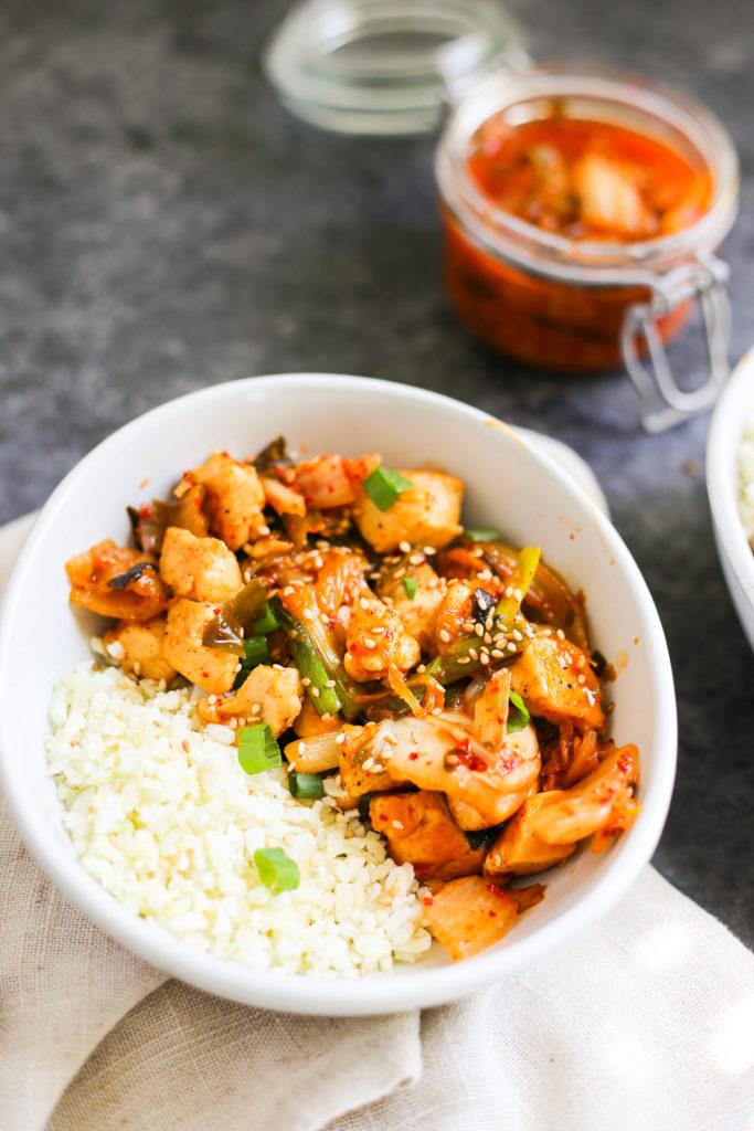 Chicken and Kimchi Stir Fry