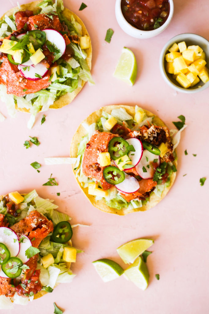Chipotle-Lime Salmon Tostadas
