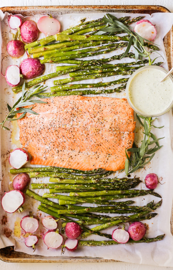 Spring Sheet Pan Salmon
