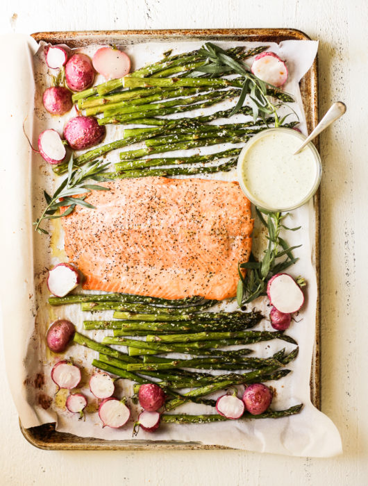 Spring Sheet Pan Salmon