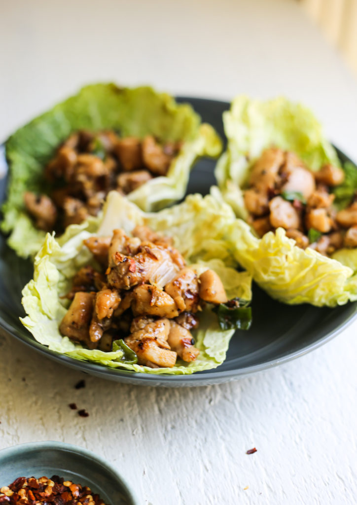 Chopped Chicken Cabbage Wraps