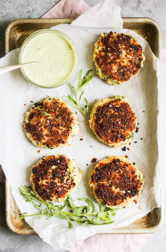 Herbed Crab Cakes with Tarragon Green Goddess