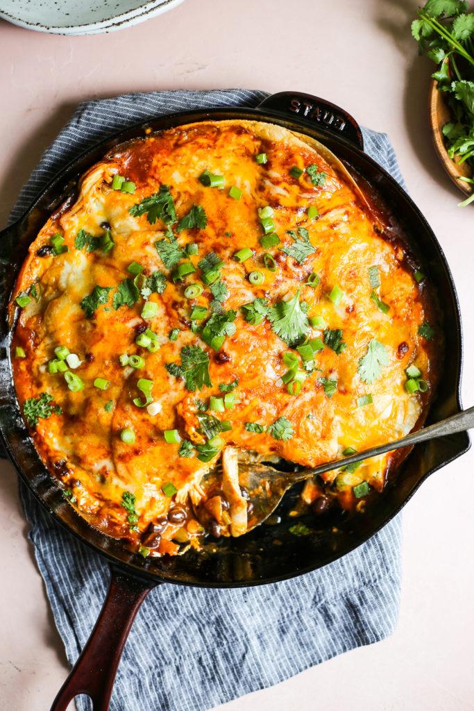Chipotle Chicken Enchilada Skillet