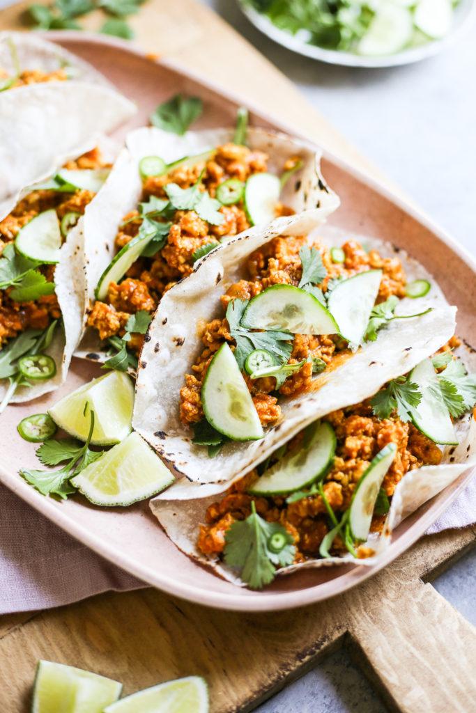 Spicy Chicken Tikka Tacos