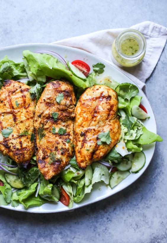 grilled tandoori chicken salad