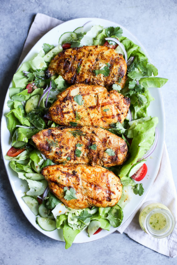 Grilled Tandoori Chicken Salad