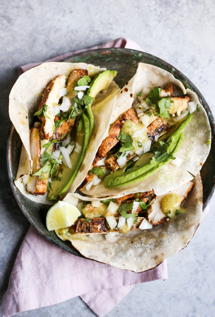 Grilled Chili Chicken Tacos