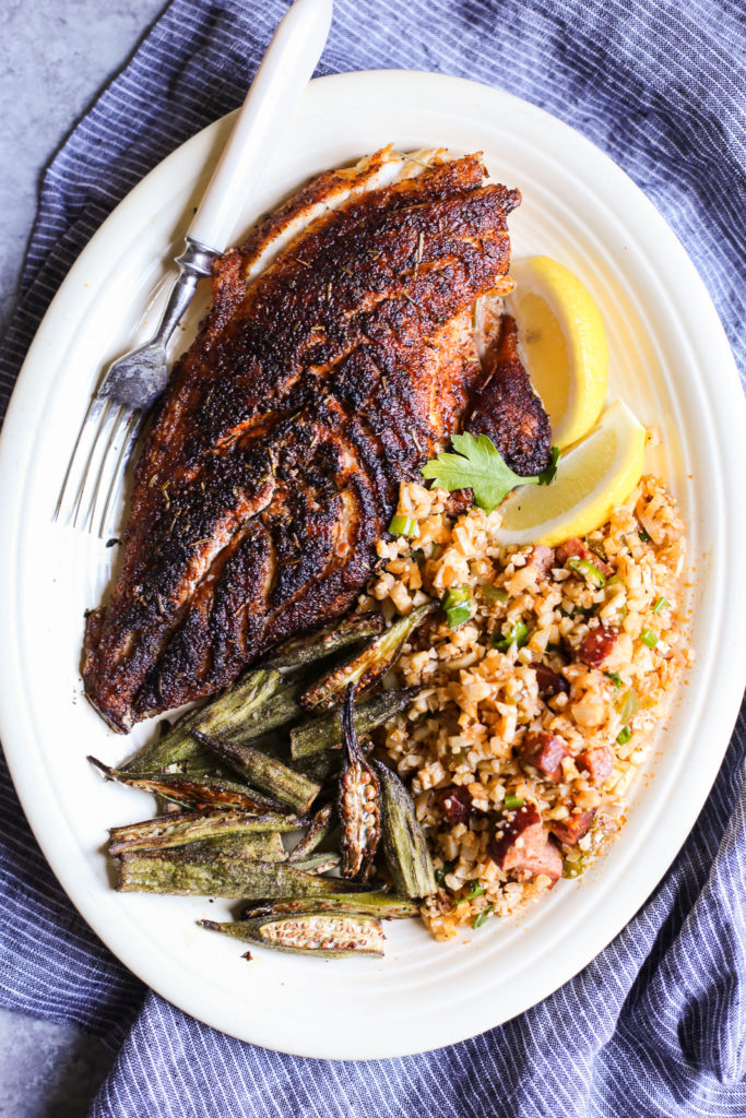 Cajun-Inspired Blackened Red Snapper
