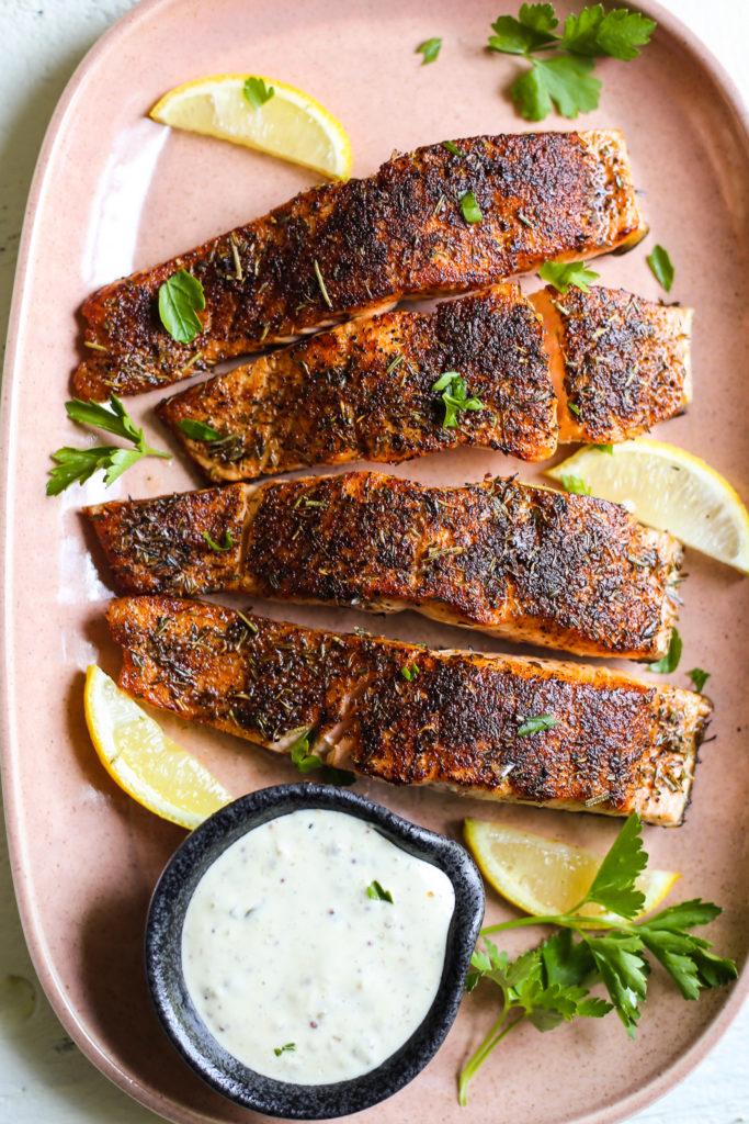 Blackened Pan Seared Salmon