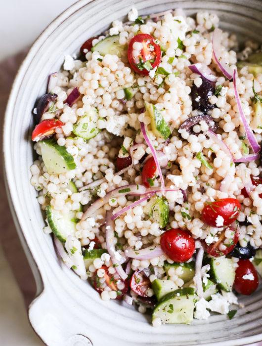 Mediterranean Israeli Couscous Salad