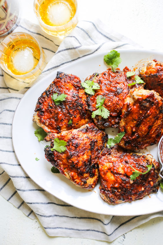 grilled chicken with chipotle-whiskey bbq sauce