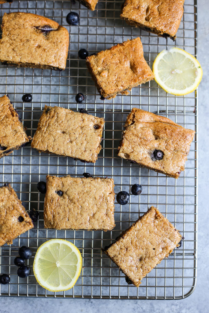 Paleo Blueberry Lemon Breakfast Bars