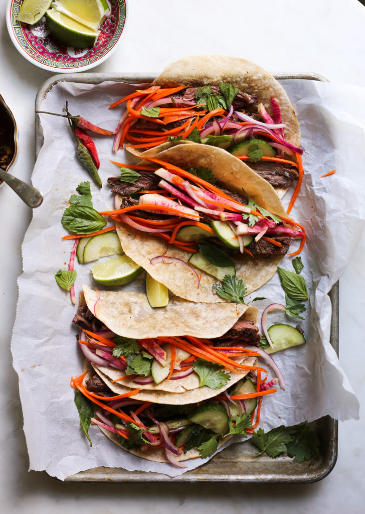 Grilled Thai-Style Steak Tacos