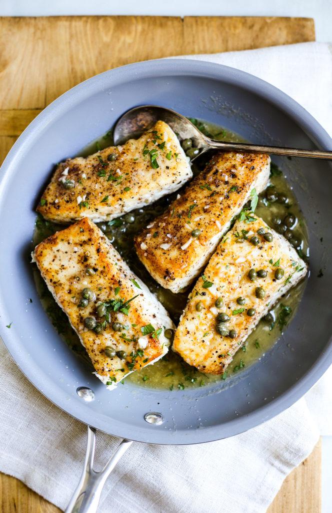 Halibut Piccata – The Defined Dish Alaskan Halibut Dish