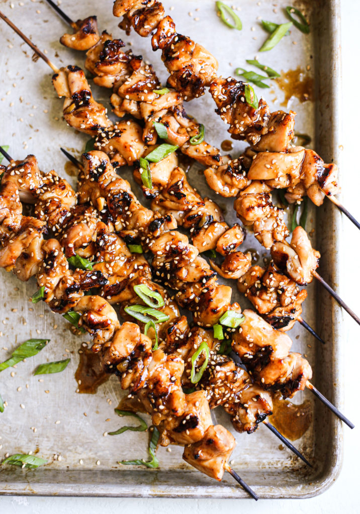 Grilled Sesame Chicken Skewers