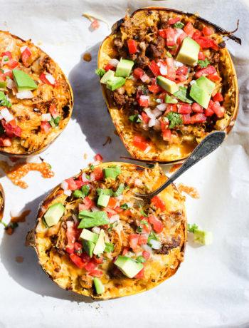 Taco Spaghetti Squash Boats