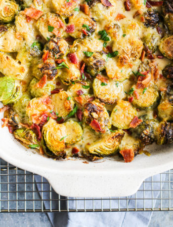 Brussels Sprouts Au Gratin