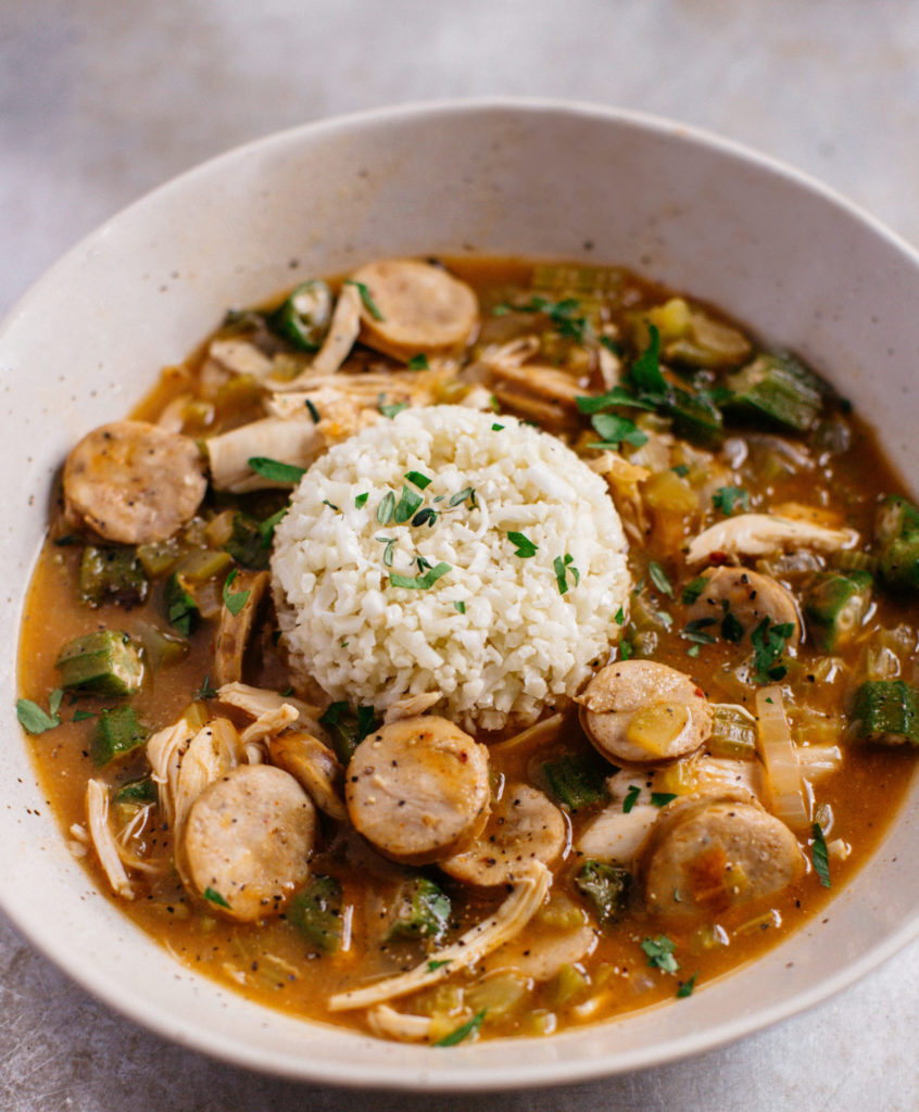 whole30 chicken and sausage gumbo
