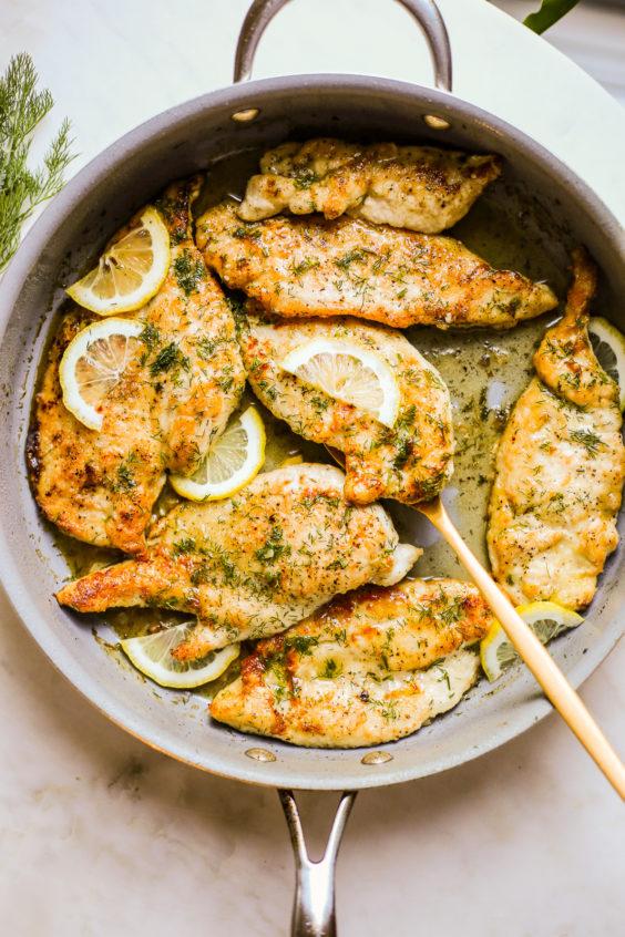skillet lemon and dill chicken