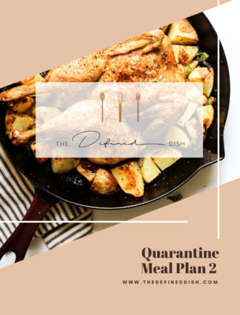 Quarantine Meal Plan 2