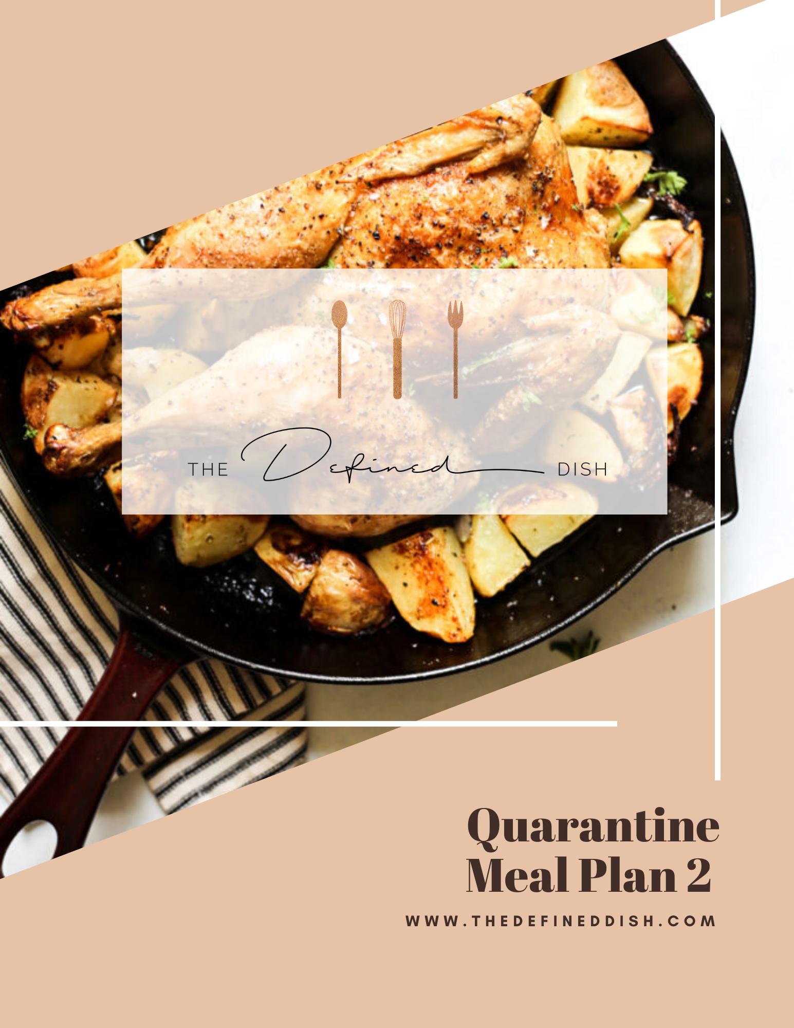 Quarantine Meal Plan 2