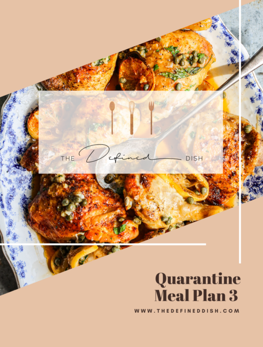 Quarantine Meal Plan 3