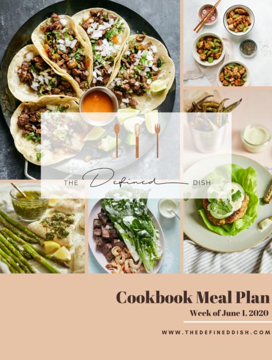 Cookbook Meal Plan