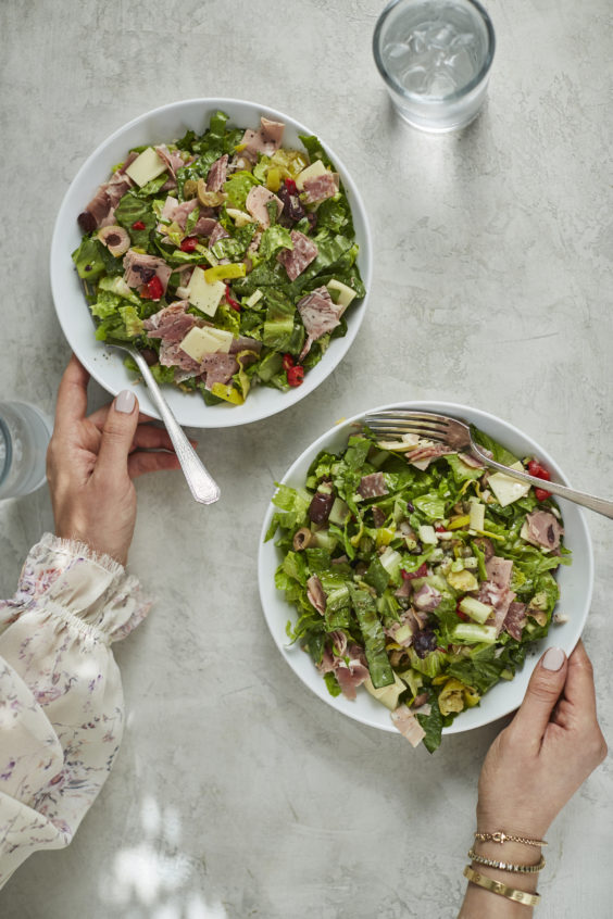 chopped muffuletta salad