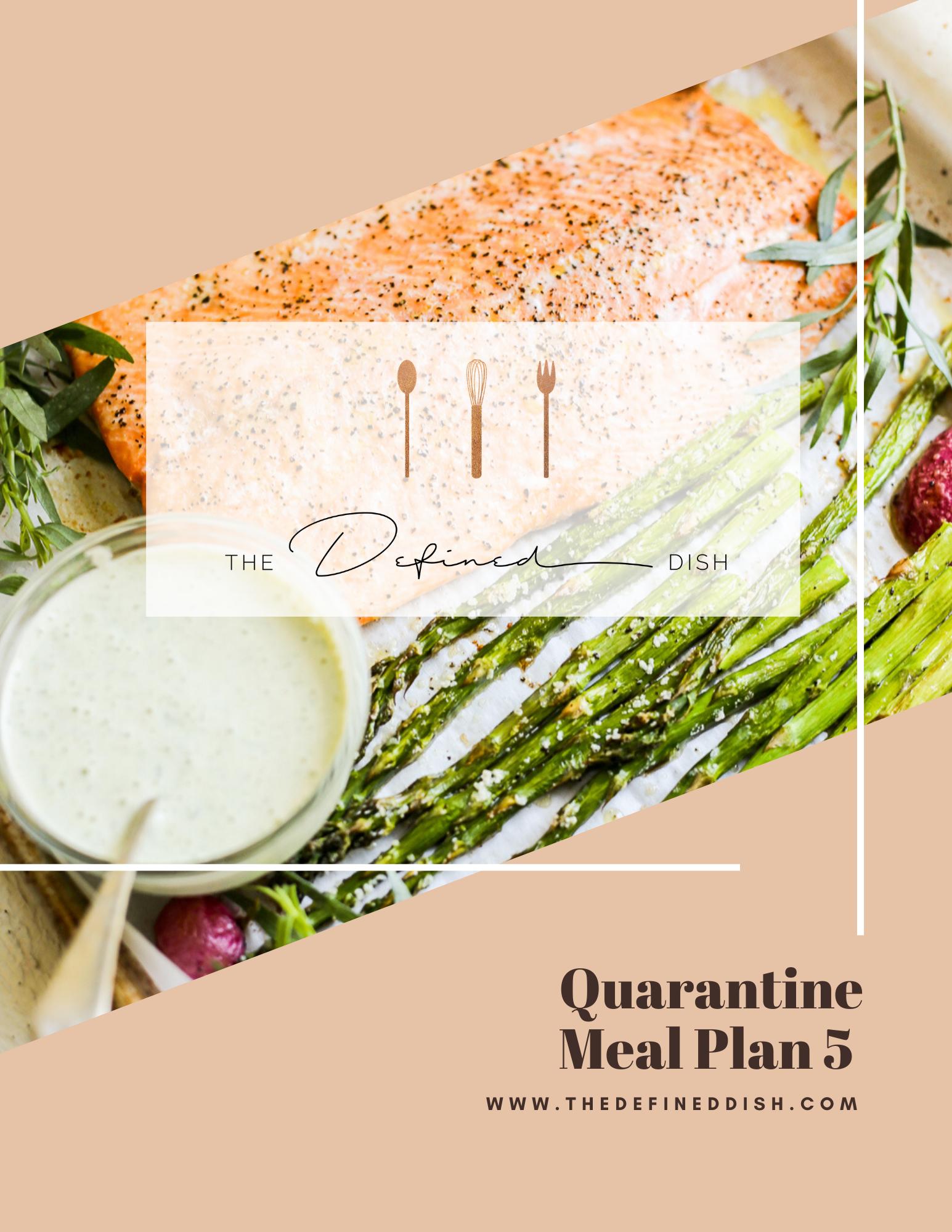Quarantine Meal Plan 5