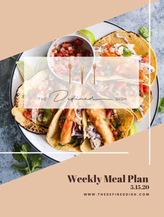 Weekly Meal Plan 5.15.20