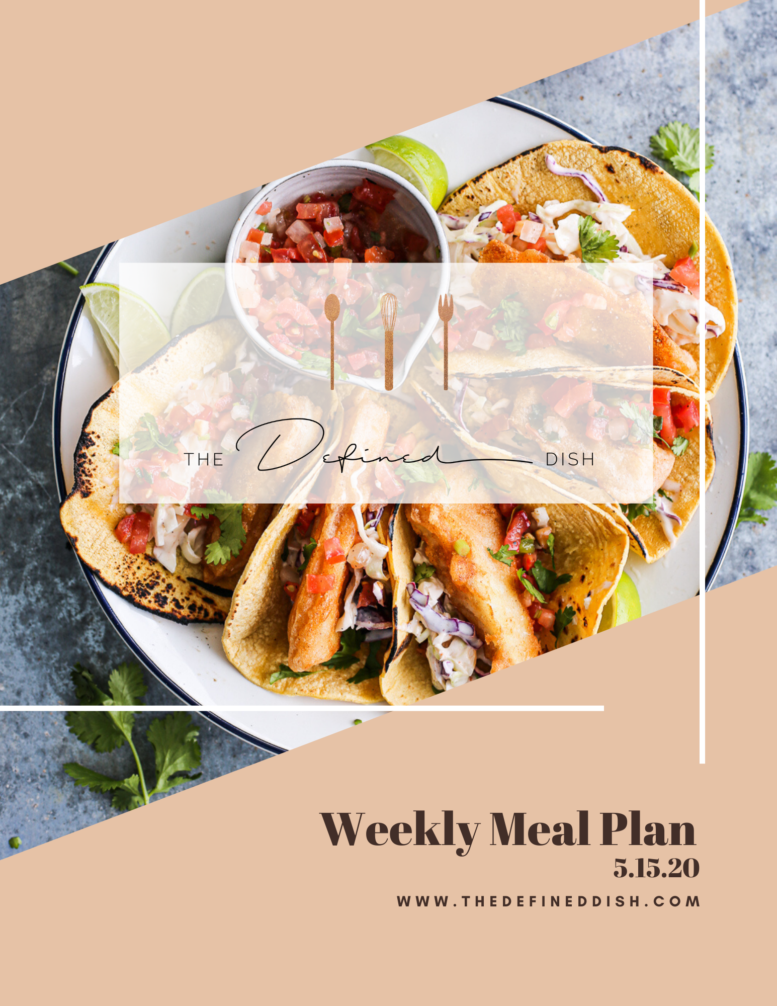 Weekly Meal Plan 5.15.20