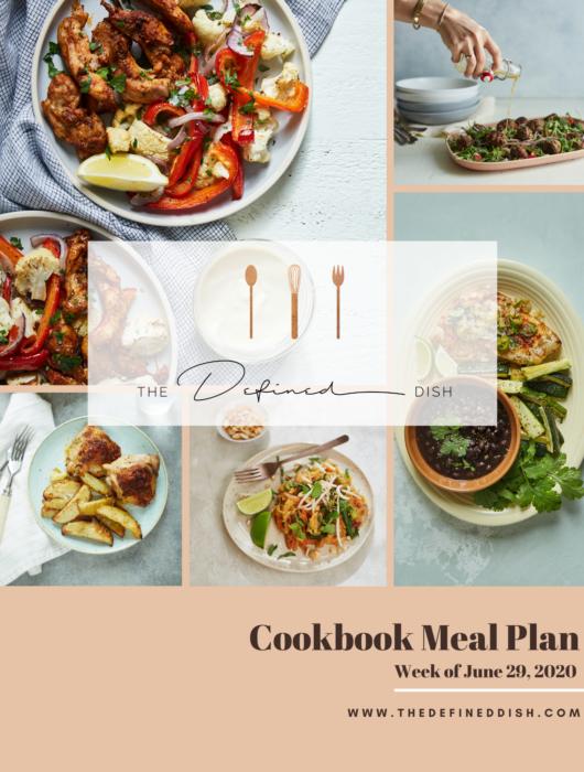cookbook meal plan {week of june 29}