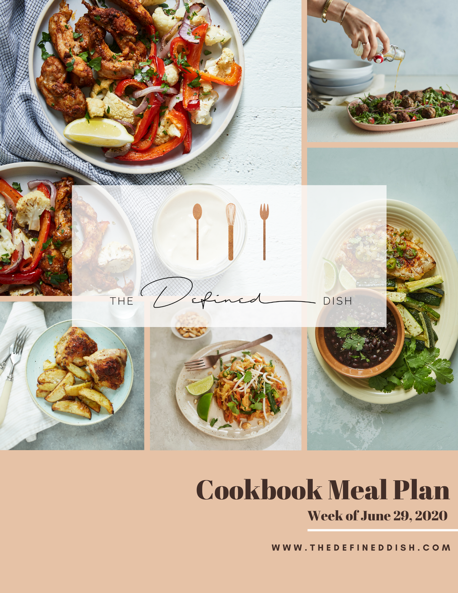 cookbook meal plan {week of june 29}